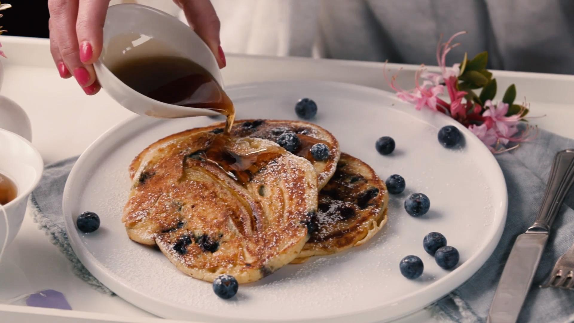 Blueberry-Banana Pancakes